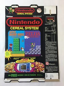 1988 Ralston NINTENDO CEREAL SYSTEM box ~ Game+Watch version