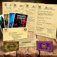 PREMIUM Harry Potter Hogwarts Acceptance Letter package tickets spells & MORE