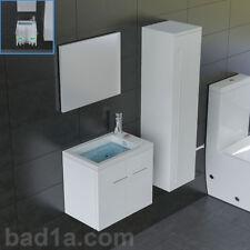 Modern Design Waschbecken mit Unterschrank Tiefe ca. 33 cm Spiegel Waschtisch