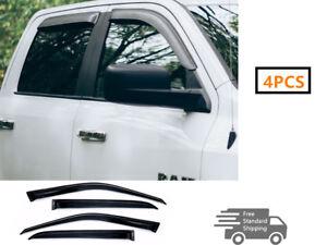 FOR 2010-2017 DODGE RAM 1500 2500/3500 CREW CAB WINDOW VISOR WIND DEFLECTOR