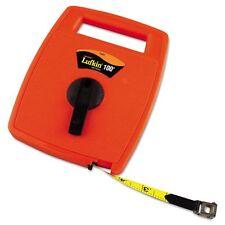 Lufkin Hi-Viz Linear Measuring Tape Measure, 1/2in x 100ft, Orange, - LUF706D