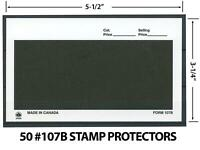 Dealer Dave Stamp Supplies 50 #107 BLACK STAMP PROTECTORS / DEALER CARDS, HANDY