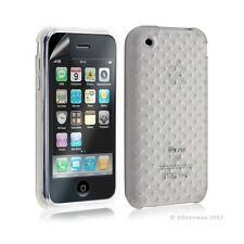 Housse étui coque souple tressée transparent pour Apple Iphone 3G/3GS couleur bl