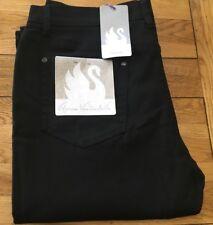 Ladies BNWT black stretch twill Gloria Vanderbilt boot cut jean, UK size 16