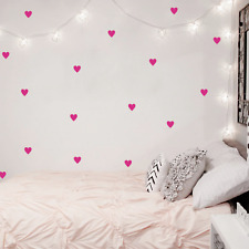 75 pcs Hearts Wall Art Stickers For Kids Baby Girl Room Decor Nursery Love Vinyl