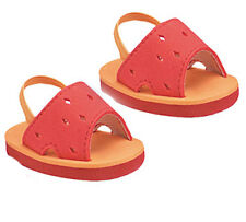 Orange Foam Sandals with Diamond Cutout Fits 18 inch American Girl Dolls