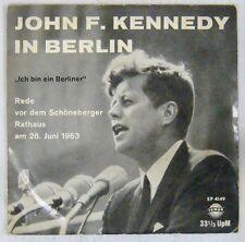 John F. Kennedy in Berlin 45 tours 1963