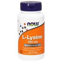 NOW Foods L-Lysine, 500 mg, 100 Tablets