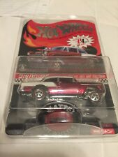 HOT WHEELS 2016 55 CHEVY BEL AIR GASSER Red & white Club car with button