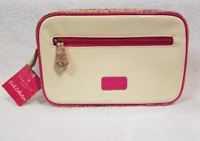 """Danielle Creations Cork Collection Weekend Retreat Cosmetic Bag NWT 10 x 6 1/2"""""""