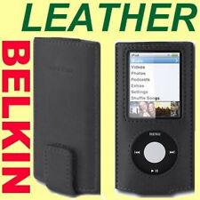 BELKIN 4th 4G gen Apple IPOD Nano BLACK LEATHER Slim Case ~NEW in BOX~ Fast Ship
