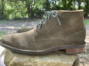 Cole Haan Mens Olive Green Suede Chukka Boots Size 10.5 C12749
