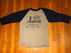 VTG Nike 80s Milwaukee Lakefront Discovery Marathon Run T Shirt Wisconsin 1983 L