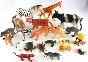 Large Bundle Collection Lot of Various ANIMAL Creature Pet FIGURES Toys