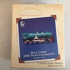 Blue Comet 400E Steam Locomotive 2002 Hallmark Ornament QX8166 Lionel Train