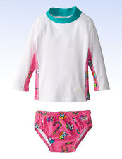 Baby BANZ Girls' UV Long Sleeve Rash Guard and Swim Diaper Set - Size 4 yr
