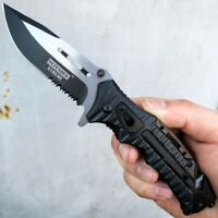 """8.25"""" Military Tactical Spring Assisted Folding Rescue Pocket Knife Multi Tool"""