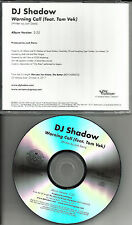 DJ SHADOW & TOM VEK Warning Call TST PRESS PROMO RADIO DJ CD single