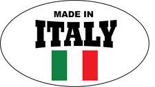 Hecho En Italia bandera en forma de óvalo Con Adhesivo-pegatina de vinilo - 16 Cm X 9 Cm
