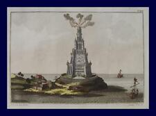Leuchtturm lighthouse faro Alexandria Galeere Hafen Segelschiff Ägypten Egypt