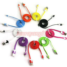 COLOR FLAT MICRO USB SYNC DATA CHARGER CABLE for SAMSUNG HTC LG SONY ERICSSON