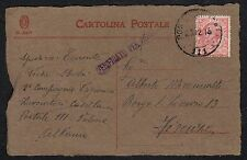 STORIA POSTALE Occ. Albania 1918 Cartolina da PM 111 a Firenze (FILX)