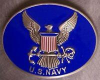 Military pewter belt buckle United States Navy logo by Siskiyou NEW