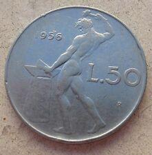 50 Lire VULCANO I° tipo  Repubblica Italiana 1956 - n. 887