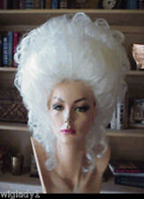 SIN CITY WIGS BIG WHITE UP DO POOF VOLUME RINGLETS STUNNING ELEGANT BIG HAIR!