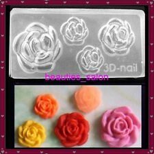 Rose Shape 3D Nail Art Acrylic Mold DIY Manicure Tips Tool Decoration #80
