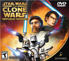 Star Wars Clone Wars REPUBLIC HEROES Lucas Arts Jedi Trooper Action PC Game NEW