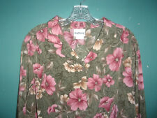 (2) NWT BonWorth floral blouses / tops  (teal/yellow) (olive/pink)     Size XL