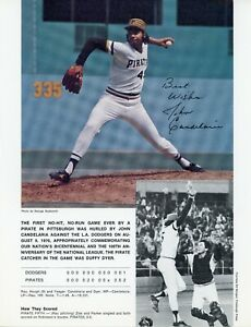 """1976 Pittsburgh Pirate Game Poster - 1st No-Hit, No-Run Game (11"""" x 9"""")"""