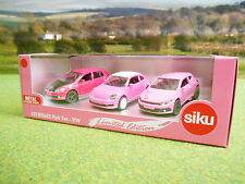 SIKU LIMITED EDITION PINK VOLKSWAGEN CAR GIFT SET 1/55 621300602 BRAND NEW
