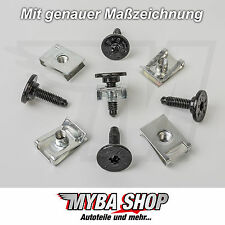 10x Set supporto parentesi + Torx Viti in metallo VW AUDI FIAT CITROEN