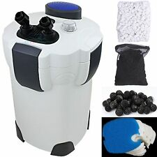 200 Gallon Aquarium Fish Tank External Canister Filter + Media Kits Self Priming