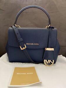 Michael Kors Ava XS Crossbody Bag in Navy Blue