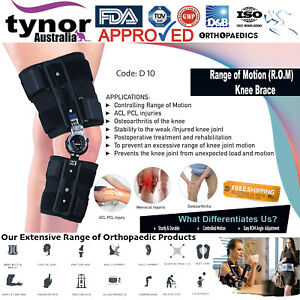 Tynor™ R.O.M. Knee Brace (Range of Motion) Post-Op ACL, PCL, MCL, LCL Injuries
