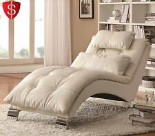 Contemporary Chaise Lounge Chair Furniture Living Room Modern Bedroom Leather
