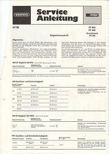 Grundig Service Anleitung Manual RF 620 640 RC 202   B1107