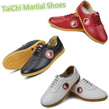 Top Leather Tai Chi shoes Taiji trainning shoe Martial Arts Kungfu Tai Chi shoes