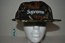 NEW SUPREME FW17 PAINTED FLORAL CAMP CAP OLIVE box logo cap hat comme 913aca64711