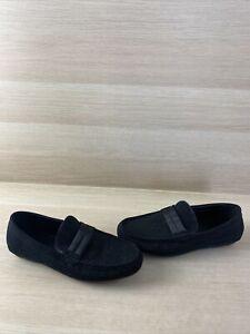 ALDO Black Studded Suede Slip On Moc Toe Driving Loafers Men's Size 8