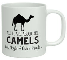 All i care about are Camels and maybe 4 other People White 10oz Novelty Mug Gift
