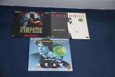 Lot Al Pacino 3 Laserdisc PAL VF Heat Scarface L'Impasse De Niro Val Kilmer