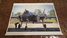 Lt Col Christine Mao 1st Female pilot F-35 Lightning II signed autographed photo