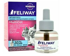 Feliway MULTICAT CAT Diffuser - (1) 48 mL Refills = 30 days *AUTHENTIC