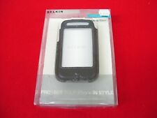 BELKIN IPHONE 3G LEATHER CASE COVER GENERATION F8Z338 BLACK SLEEVE POUCH FORMED