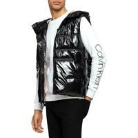 Calvin Klein Mens Jackets Black Size 2XL Puffer Vest Water-Resistant $198 157