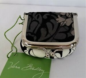 Vera Bradley Baroque Contact Case Lens Kisslock Mirror Jewelry Coin Pouch Travel